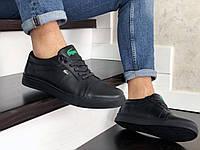 Мужские кроссовки Lacoste (Лакоста), черные, код SD-9052