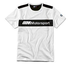 Оригинальная мужская футболка BMW Motorsport T-Shirt, Colour Block Design (Men, White / Black)