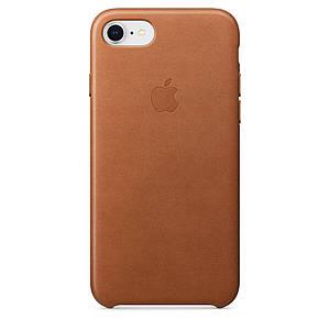 Чехол накладка на iPhone 7/8 Leather Case saddle brown