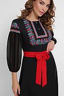 Черное платье под вышиванку