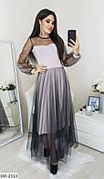 Сукня жіноча міді стильне пудровое весняне розміри 42 44 46 48 новинка 2020 кольори