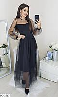 Сукня жіноча міді стильне чорне весняне розміри 42 44 46 48 новинка 2020 кольори