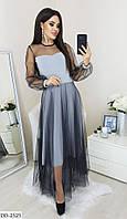 Сукня жіноча міді стильне сіра весняне розміри 42 44 46 48 новинка 2020 є інші кольори