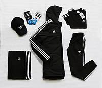 Весенний костюм в стиле Adidas черный