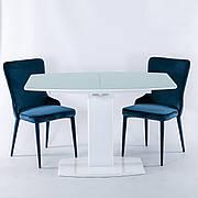 Стол Милан-1 (В 2396-1 White+W023) TES Mobili, матовое стекло белое