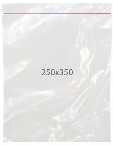 Пакеты полиэтиленовые с замком zip 250х350, упаковка — 100 шт., фото 2