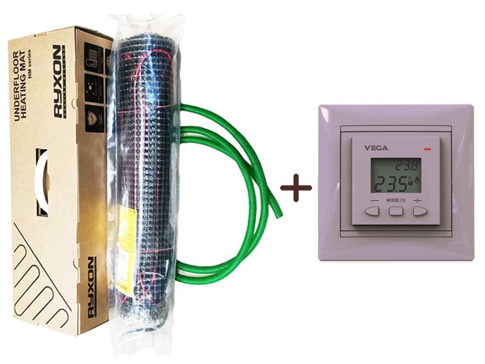 Нагревательний мат Ryxon HM-200 (12 м2) с програматором VEGA LTC 070 (KIT 3517)