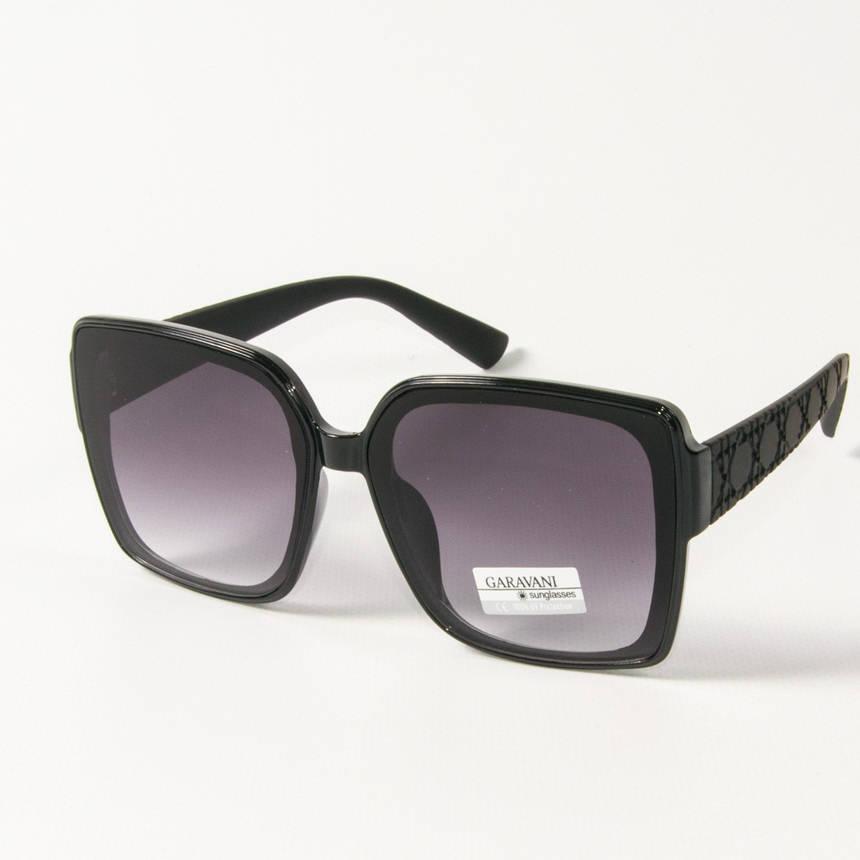 Оптом женские солнцезащитные квадратные очки  (арт. 33704/1) черные, фото 2