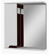 Зеркальный шкаф в ванную комнату Simple LED венге 60