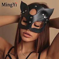 "Кожаная маска-кошка ""Kitty Cat"""