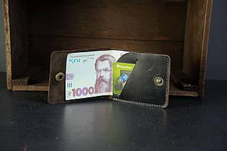 Кожаный кошелек портмоне Жорик Кожа Итальянский краст цвет Кофе, фото 3