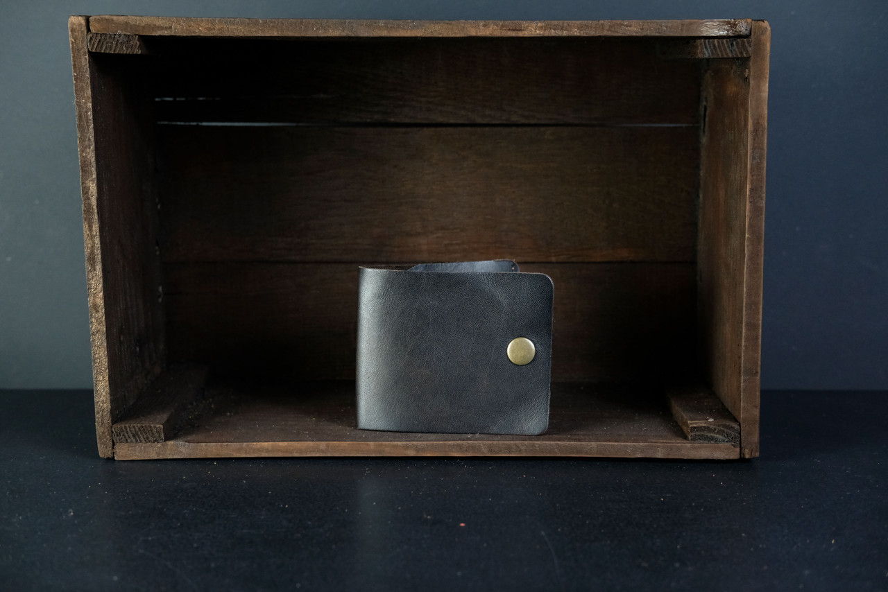 Кожаный кошелек портмоне Жорик Кожа Итальянский краст цвет Кофе