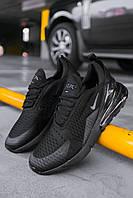 Кроссовки мужские весенние осенние качественные модные Найк Air Max 270 Black, фото 1