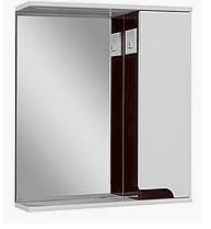 Зеркальный шкаф в ванную комнату Simple LED венге 70