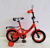 Детский двухколесный велосипед колеса 12 дюймов 181230 оранжевый