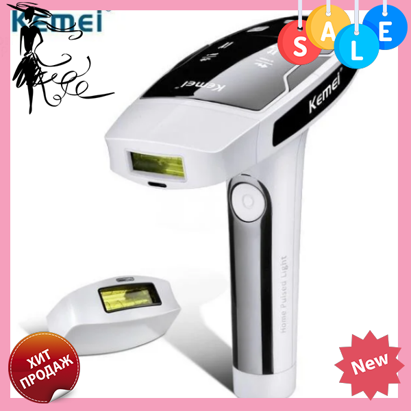 Лазерный эпилятор Kemei RM-6812 | Фотоэпилятор для волос