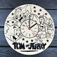 Детские декоративные часы из дерева «Том и Джерри», фото 1