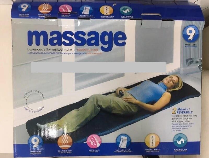 Массажный матрас с функцией подогрева Massage - массажная накидка с подогревом