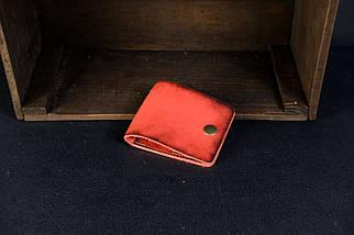 Кожаный кошелек портмоне Жорик Кожа Итальянский краст цвет Красный, фото 2