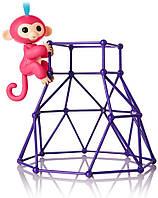 Интерактивная обезьянка Fingerlings с площадкой Jungle Gym Playset Interactive Baby Monkey Aimee