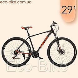 "Велосипед Oskar 29"" M126 Алюминий Черно-оранжевый с амортизацией Хардтейл Велосипед гірський MTB оранжевий"