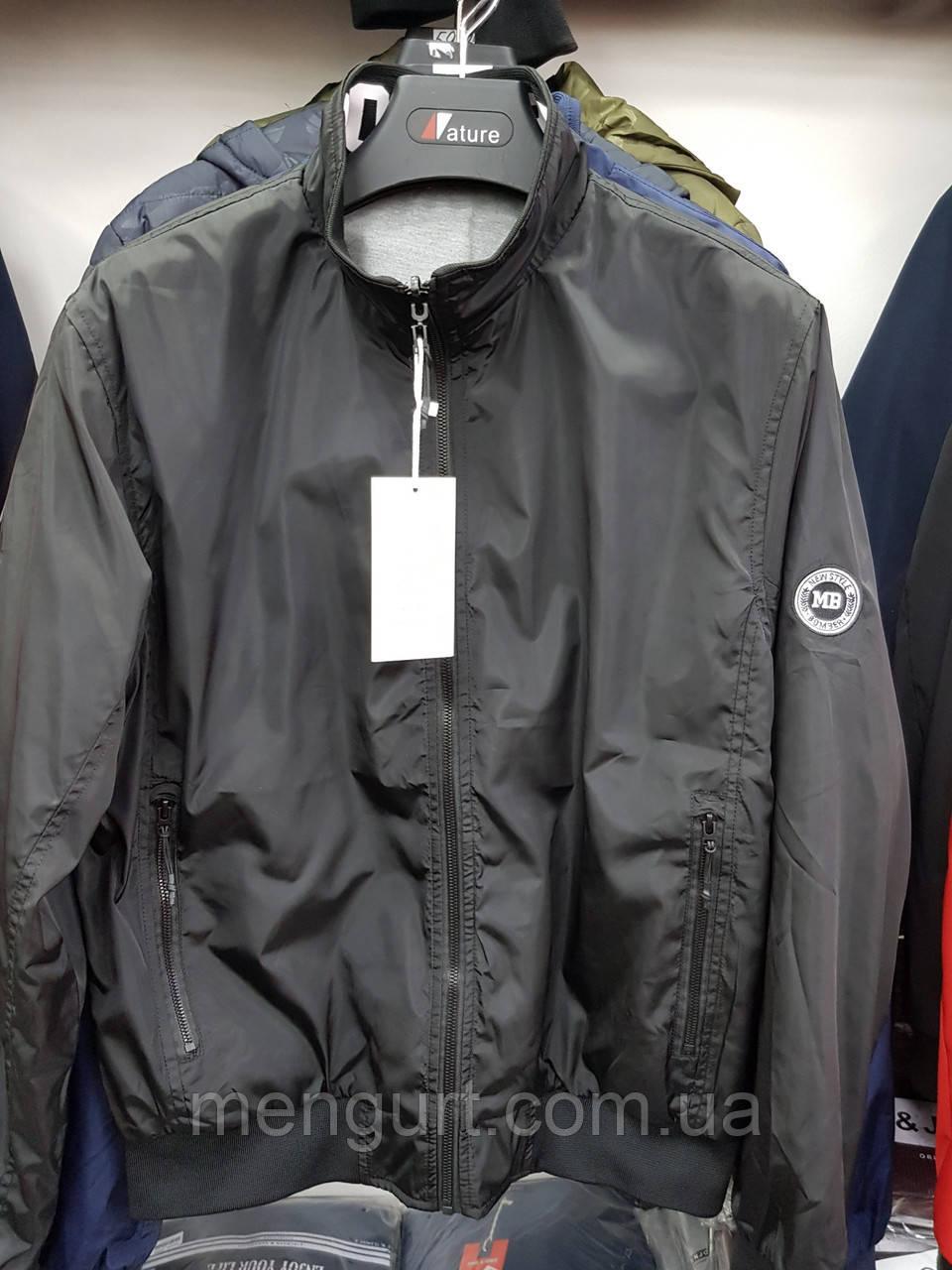Спортивная куртка мужская без капюшона БАТАЛ