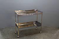 Столик из нержавеющей стали на две полки (1 метр) Медаппаратура