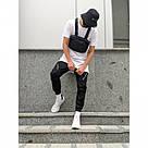 Карго штаны Пушка Огонь Angry Zipp черный весна-осень XL, фото 3