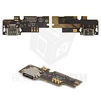 Шлейф Xiaomi Mi4c з розємом зарядки, мікрофоном та компонентами (High Copy)
