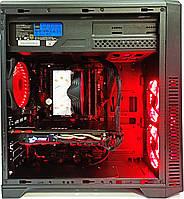 Игровой компьютер БУ Ryzen 5 2600 , GeForce GTX 1080 8GB , 16 GB DDR4 , SSD + HDD, фото 1