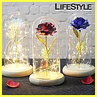 Роза в колбе с LED подсветкой (маленькая) / Тренд 2020