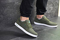 Мужские кеды темно зеленые Lacoste реплика