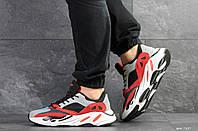 Мужские кроссовки серые с красным Adidas balance life реплика