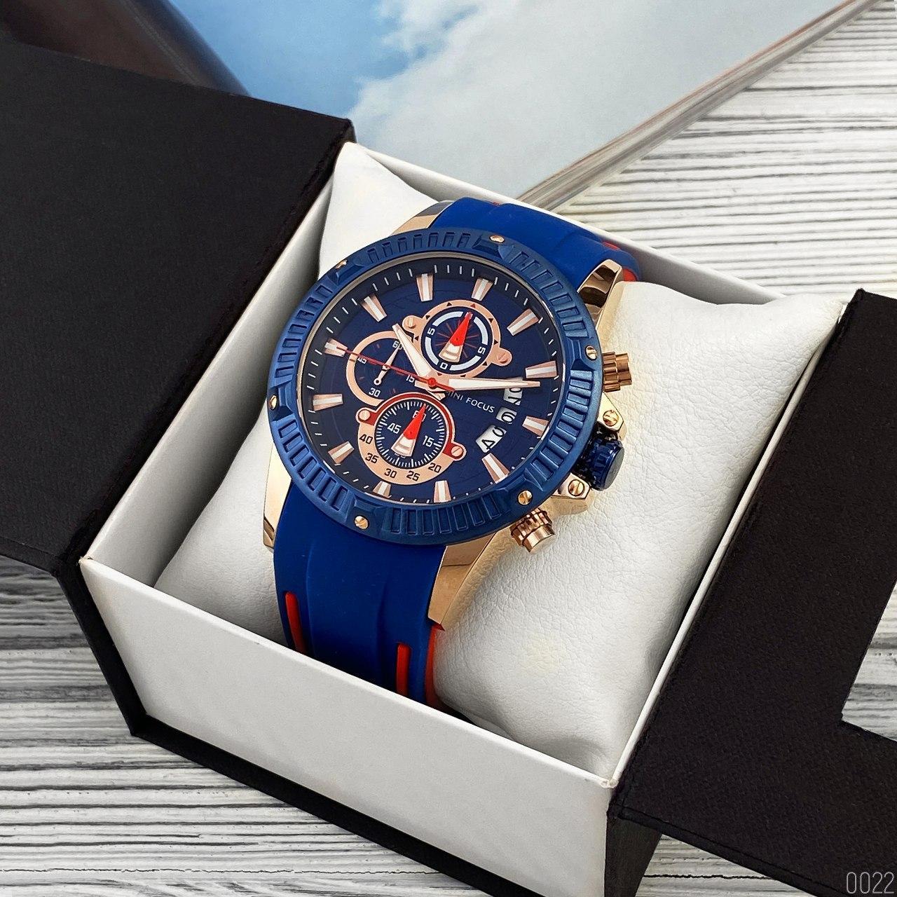 Часы мужские кварцевые Mini Focus MF0244G.01 Blue-Cuprum-Red AB-1095-0022