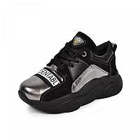 Підліткові і дитячі кросівки лего нікель шкіра, чорний замш р. 32 33 34 35 36 37 38 39, фото 1
