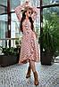 Расклешенное женское платье в горошек с запахом и воланом (4005-4001-4003-3999 svt), фото 5