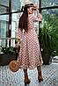 Расклешенное женское платье в горошек с запахом и воланом (4005-4001-4003-3999 svt), фото 6