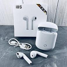 Беспроводные наушники TWS i8S  Bluetooth 5.0 с кейсом!Хит цена, фото 3