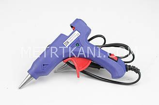 Пистолет клеевой  №ПК-8 цвет синий