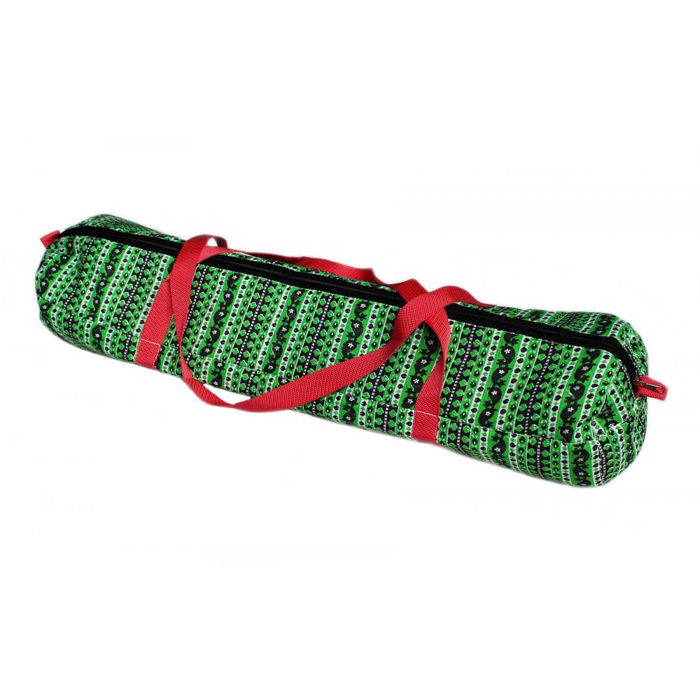 Этно Полоска зеленая сумка - чехол для йогаковрика