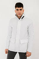 Куртка мужская демисезонная без капюшона белая DarkSide. Живое фото (весенняя куртка)