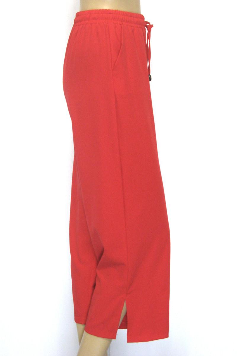 Жіночі широкі брюки на резинці