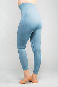Спортивные лосины женские  леггинсы для йоги/фитнеса Angel Swert (голубые)
