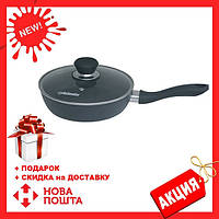 Сковорода с антипригарным покрытием Quan Tanium с крышкой MAESTRO MR-1205-20 | сковородка Маэстро, Маестро, фото 1