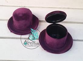 Бархатные покрытые коробки шляпа