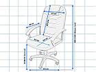 Офисное компьютерное кресло PS74 TILT для офиса, дома, фото 8