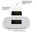 ПЛАФОН / СВЕТИЛЬНИК / ЛАМПА для салона авто + магнитное крепление, цвет свечения белый + USB зарядка, серый, фото 2
