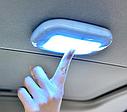 ПЛАФОН / СВЕТИЛЬНИК / ЛАМПА для салона авто + магнитное крепление, цвет свечения белый + USB зарядка, серый, фото 3
