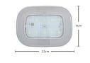 ПЛАФОН / СВЕТИЛЬНИК / ЛАМПА для салона авто + магнитное крепление, цвет свечения белый + USB зарядка, серый, фото 6