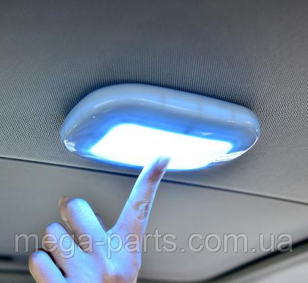 ПЛАФОН / СВЕТИЛЬНИК / ЛАМПА для салона авто + магнитное крепление, цвет свечения белый + USB зарядка, серый